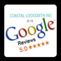 coastal locksmith, locksmith services, security, google, google reviews, 5 star service