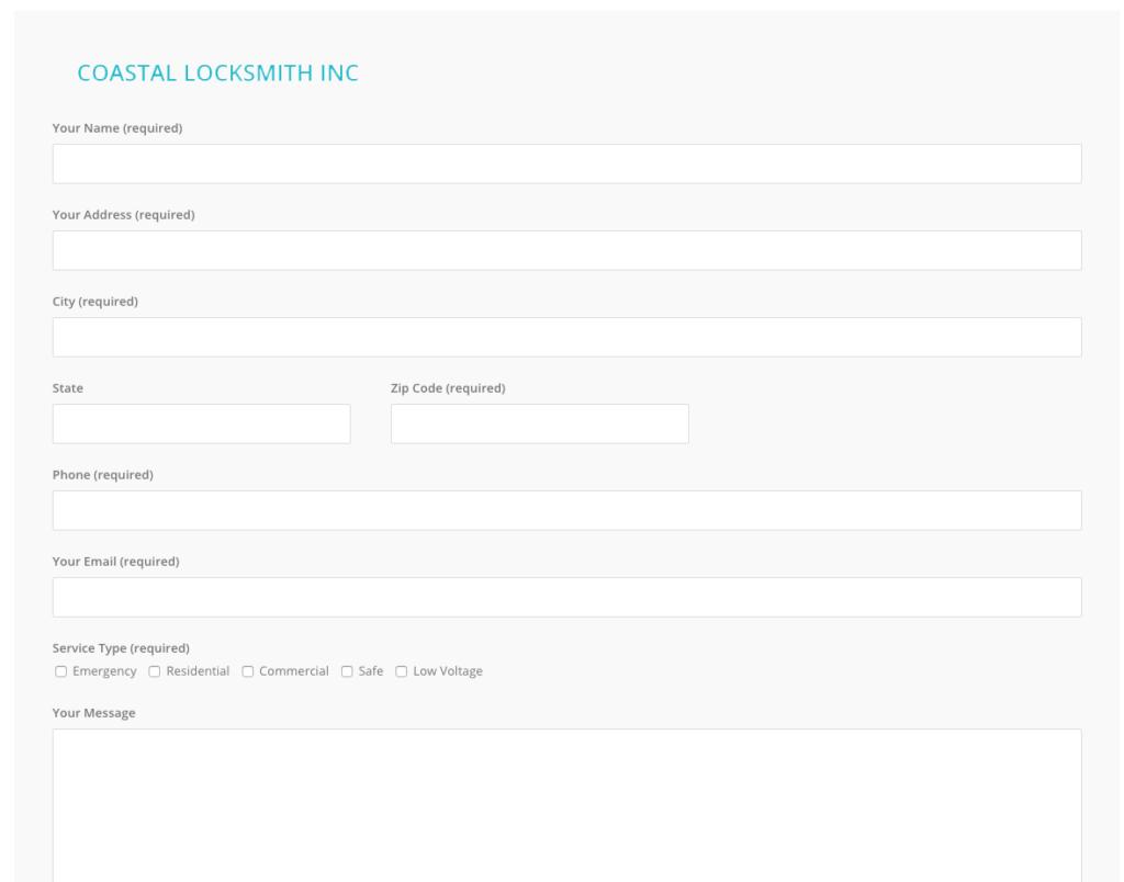 coastal locksmith irvine forms quote request locksmith service service request form